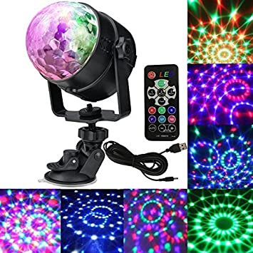 Amazon hongyu charge party lights sound activated strobe hongyu charge party lights sound activated strobe light disco ball dj party lights portable led 7colors mozeypictures Image collections