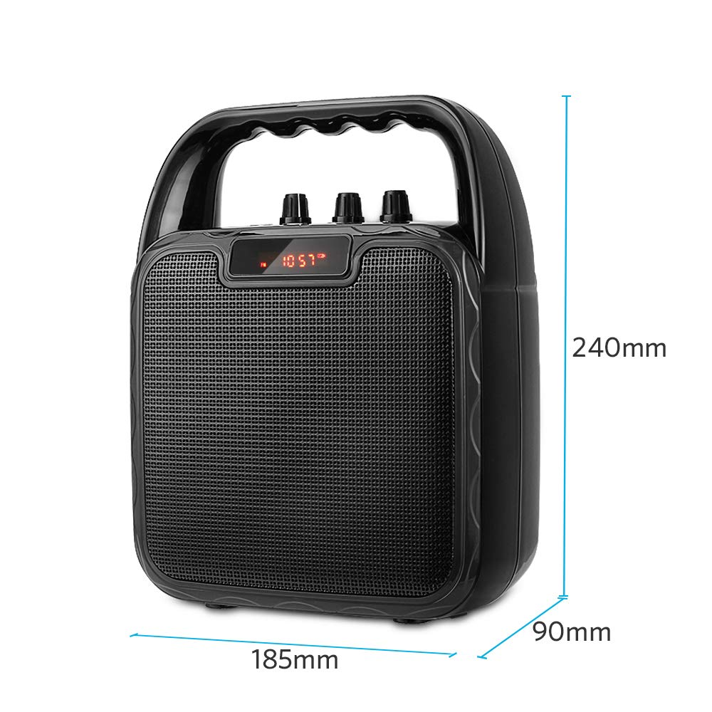ARCHEER Portable PA Speaker System, bluetooth Speaker with Microphone, Karaoke Machine Voice Amplifier Handheld Mic Perfect for Party,Karaoke and other Outdoors and Indoors Activities by ARCHEER (Image #2)