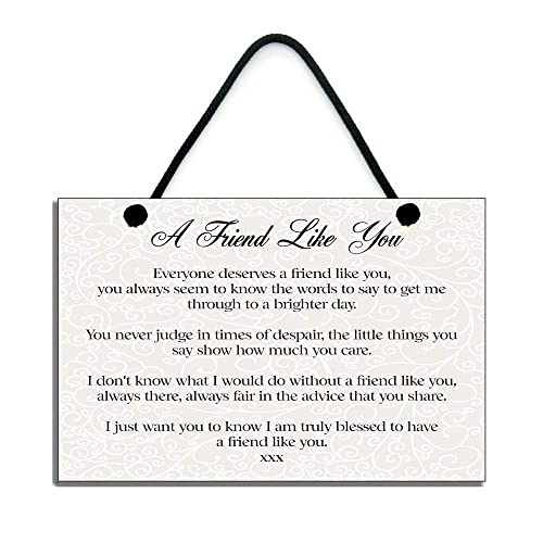 A Friend Like You Special Friend Gift Handmade Friendship Quote Home