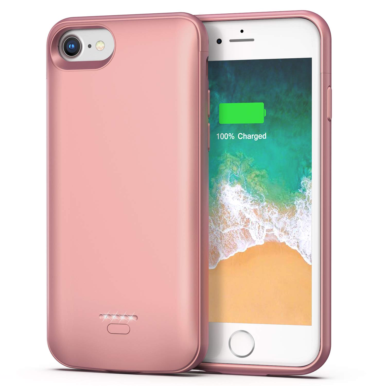 iPhone 6 6s Battery Case, 4000mAh Portable Protective  Charging Case for iPhone 6 6s(4.7 inch) Extended Battery Charger Case (Rose Gold) Smiphee