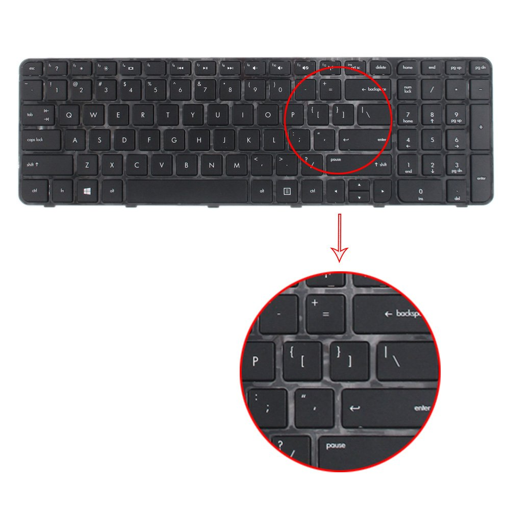 Amazon.com: TLBTEK Laptop Replacement Keyboard with Frame Compatible HP Pavilion G6-2000 G6-2100 G6-2200 G6-2300 G6T-2000 US Layout: Computers & Accessories