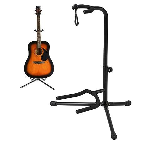 Taylor & Brown® telescópico soporte para guitarra acústica/eléctrica/Bass plegable y ajustable