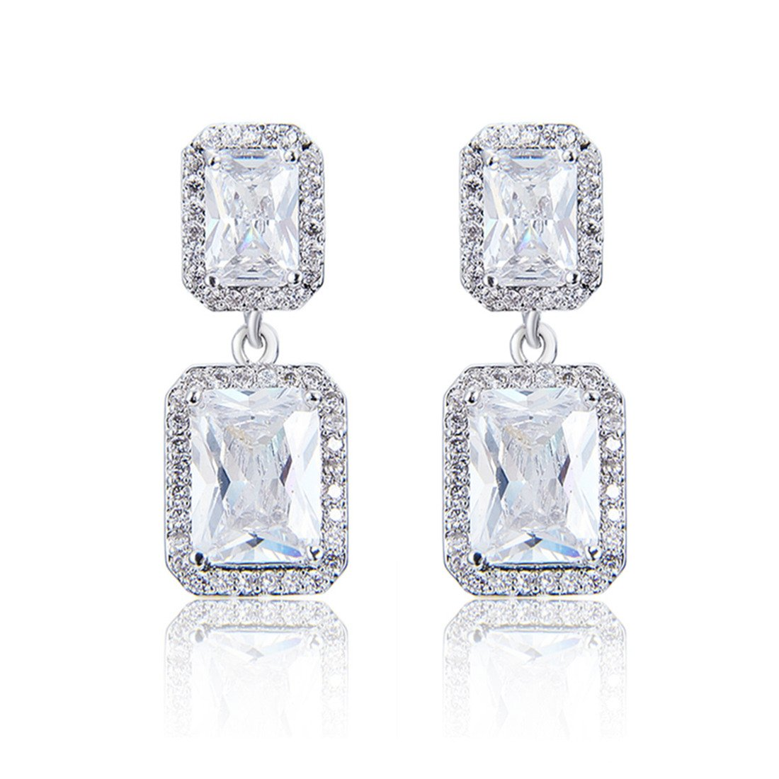 Wordless Love Jewelry Sets for Women Cubic Zirconia Party Earrings Pendant Necklace Set by Wordless Love (Image #2)