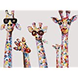 Paint by Numbers for Adults Kids DIY Oil Painting Set On Canvas Giraffe Painting by Number Animal Arts and Crafts for Beginne