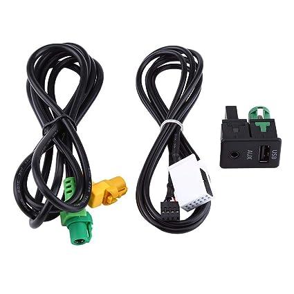Cable USB AUX, Adaptador del cable del arnés de cable del zócalo ...