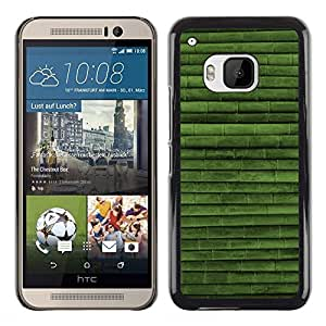 Shell-Star Arte & diseño plástico duro Fundas Cover Cubre Hard Case Cover para HTC One M9 ( Green Nature Bamboo Pattern )
