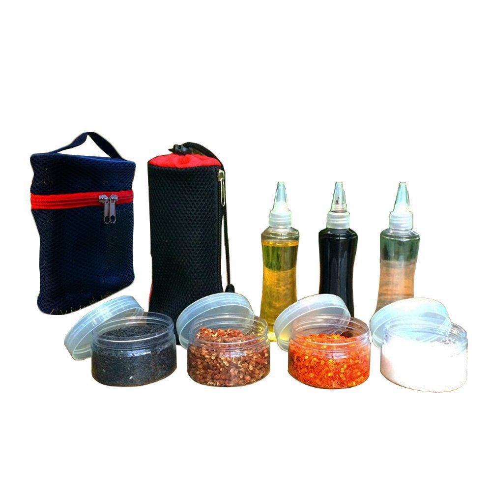 Salsa di condimento contenitori spezie per barbecue di bottiglie portaspezie per esterni/campeggio/picnic TwinkBling