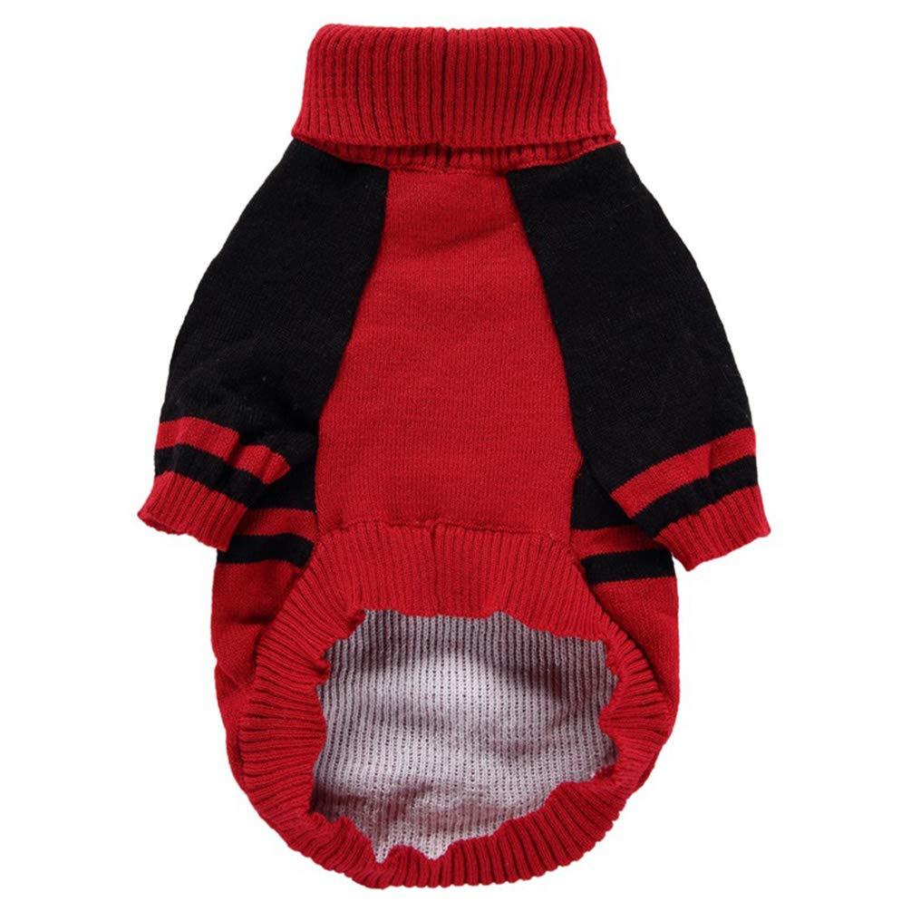 YiiJee Cane Halloween Cranio Modello Animale Domestico Maglieria Maglione Abbigliamento Rosso XXS