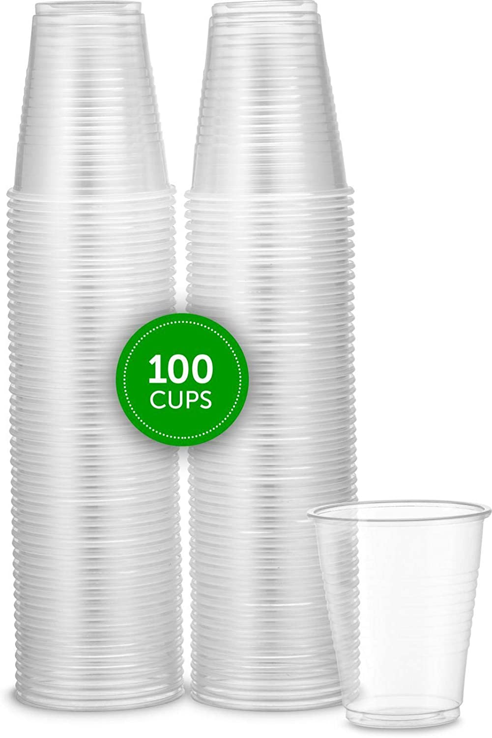 Plasticpro plastic Cups 5 oz Disposable Clear Beverage Tumbler (100 Count)