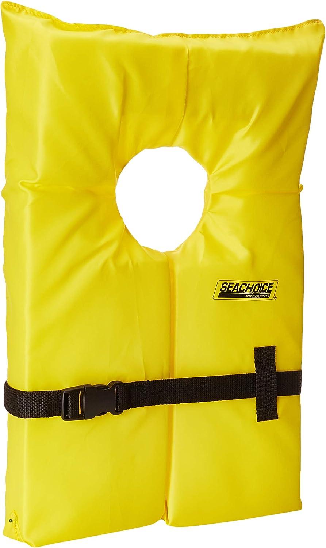 Seachoice大人用ライフベスト米国沿岸警備隊承認済イエロー