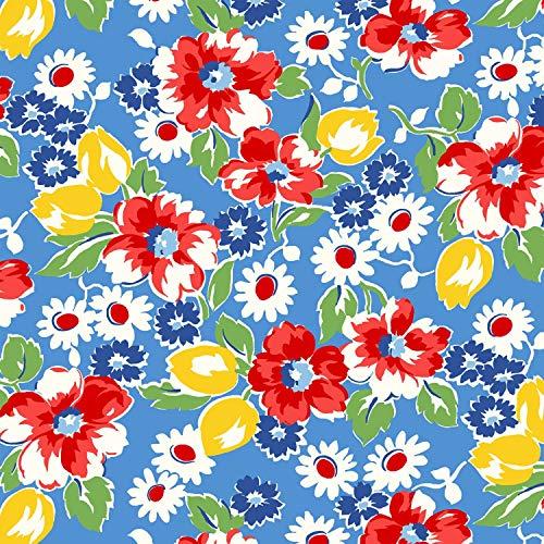 Windham Fabrics Sugar Sack Feed Sack Reproduction Floral Cotton Fabric 50429-2