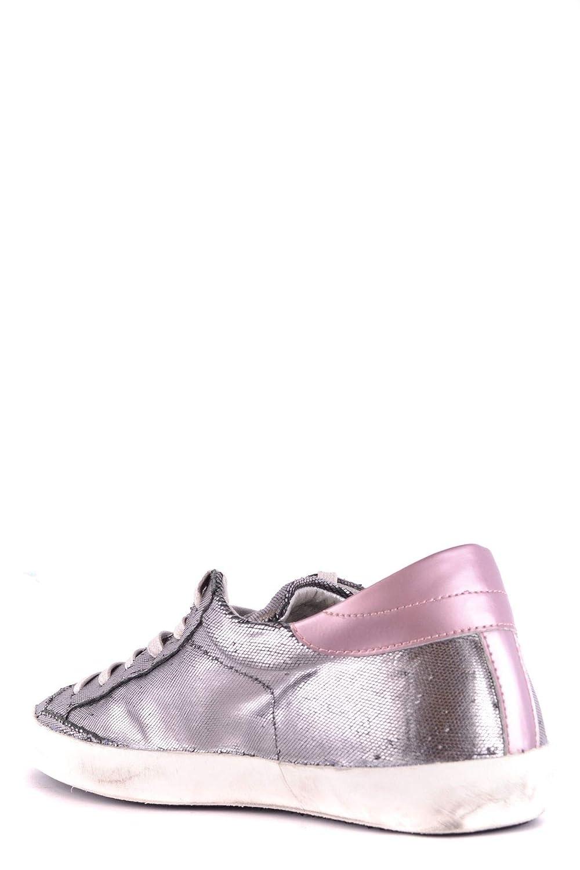 Philippe Model Damen Damen Damen MCBI32926 Silber Leder Turnschuhe  1937b4