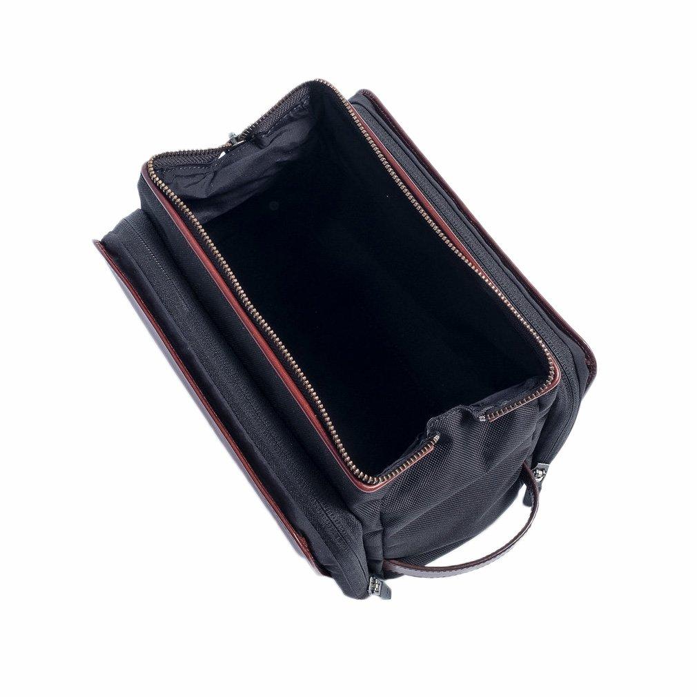 Hook & Albert Leather Toiletry Kit (Brown),One Size by HOOK & ALBERT