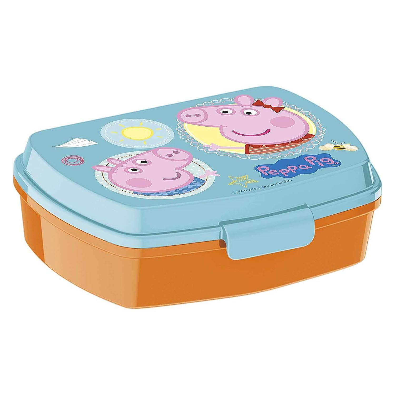 JuniorToys Peppa Pig Brotdose Lunchbox mit Peppa Wutz - ideal für die Pause in Kindergarten und Vorschule - Brotdose mit Praktischem Clipverschluß