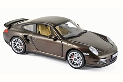 2010 Porsche 911 Turbo, Brown Metallic - Norev 187622 - 1/18 Scale Diecast