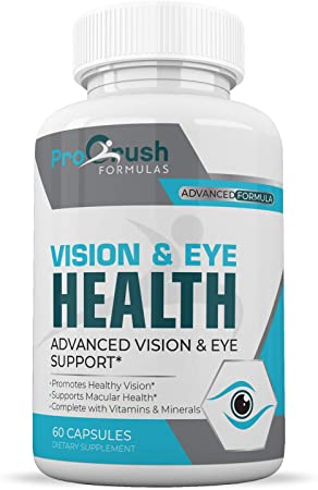 Vision & Eye Support Supplement - Improves Macular & Retina Health for Clarity of Vision, Color Perception, Night Vision, Depth Perception & Reading Clarity for Both Men & Women.