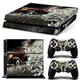 ZoomHit Ps4 Playstation 4 Console Skin Decal Sticker American Gangster + 2 Controller Skins Set
