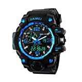 COLY SKMEI Men's Analogue Digital 50M Waterproof LCD Back Light Electronic Sport Military Digital Multifunctional Watch