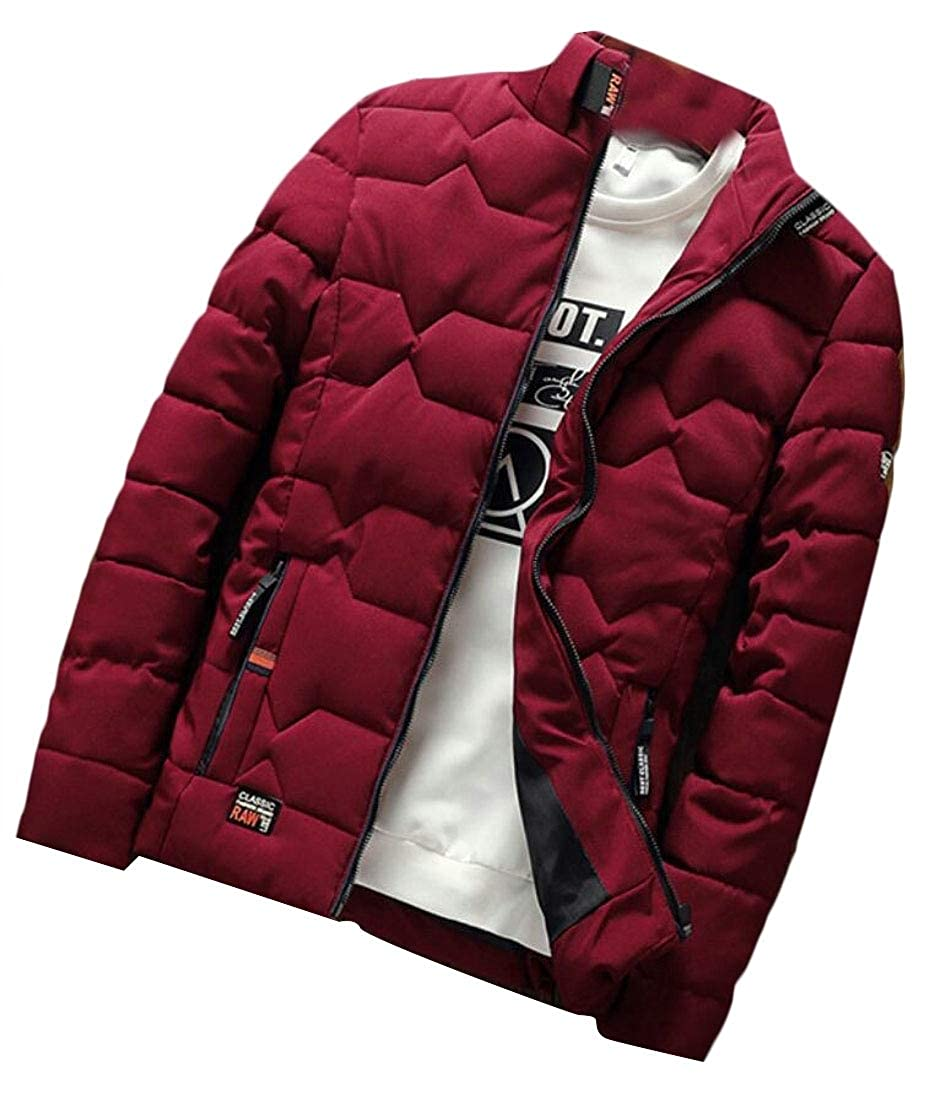 omniscient Men Thicken Down Zipper Outwear Jacket Winter Casual Warm Coat