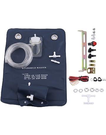 Kit de Bolsa de Bomba de Lavado de Parabrisas, 12V Kit de Bolsa de Bomba