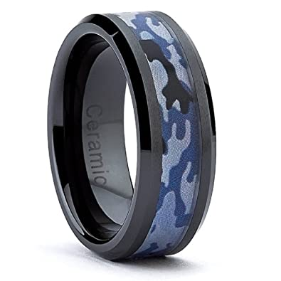 NAVY SEAL Marines Navy Military Ceramic Blue Black CamouflageCamo