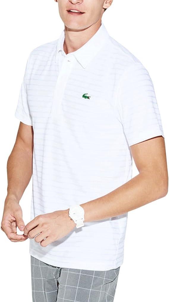 Lacoste Polo Golf Sport DH8132 Blanco Hombre 3 Blanco: Amazon.es ...