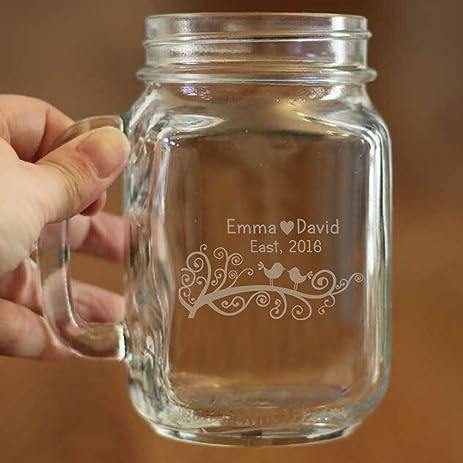 Amazon Personalized Engraved Wedding Mason Jars Decoration
