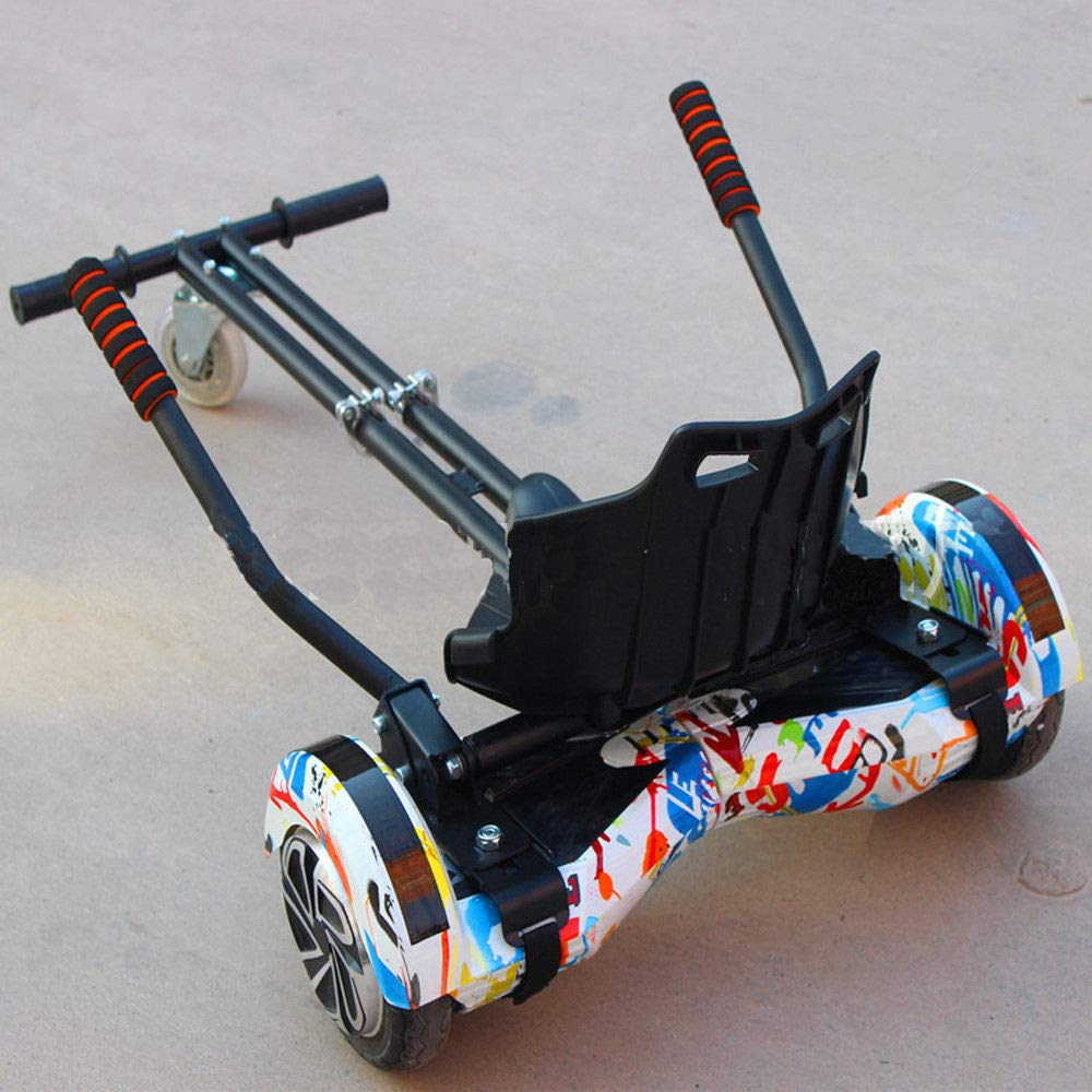 """US Stock Hoverboards Kart Seat Attachment Adjustable Hover Go Kart Cart Fits 6.5/""""//8/""""//10 Hoverboard Accessory"""
