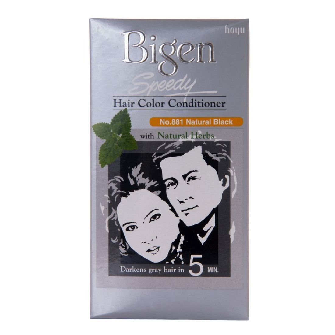 Bigen Speedy Hair Color, Natural Black 881 (40g + 40g) product image