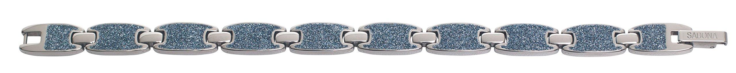 Sabona 28165 Caribbean Ocean Magnetic Bracelet in Silver, 0.1 Ounce by Sabona (Image #2)
