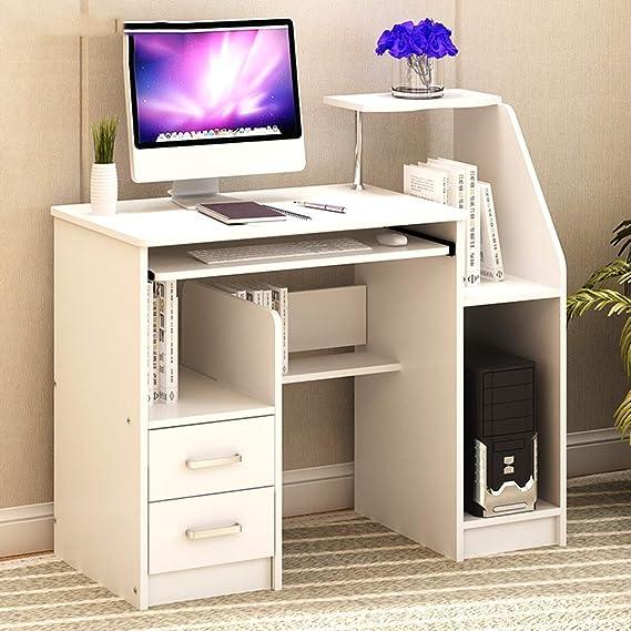 armadietto e cassetti Vassoio da Tastiera Tavolo da Lavoro Desktop PC per Home Office 75 x 49 x 92 cm 3 Colori YNN Tavolo Scrittoio Computer con Ripiani Colore : C