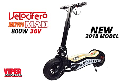 Velocifero Mini Mad 800 W 36 V de litio eléctrico Scooter