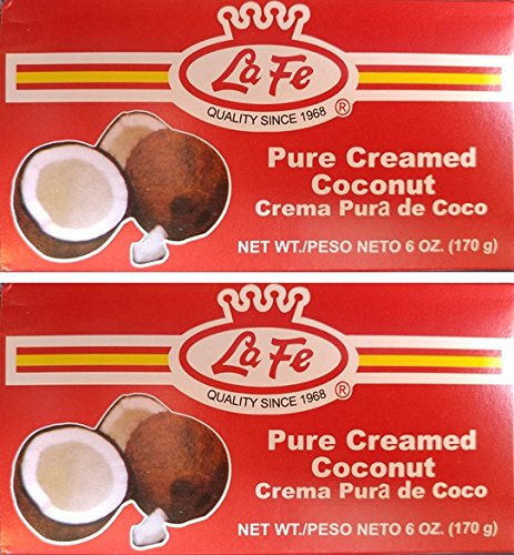 - LA FE PURE CREAMED COCONUT 6 OZ 2PK