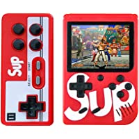 Sup Double Game Box 400 in 1 Retro Gaming Console Classic USB Charging Birthday Gift for Kids (Red)