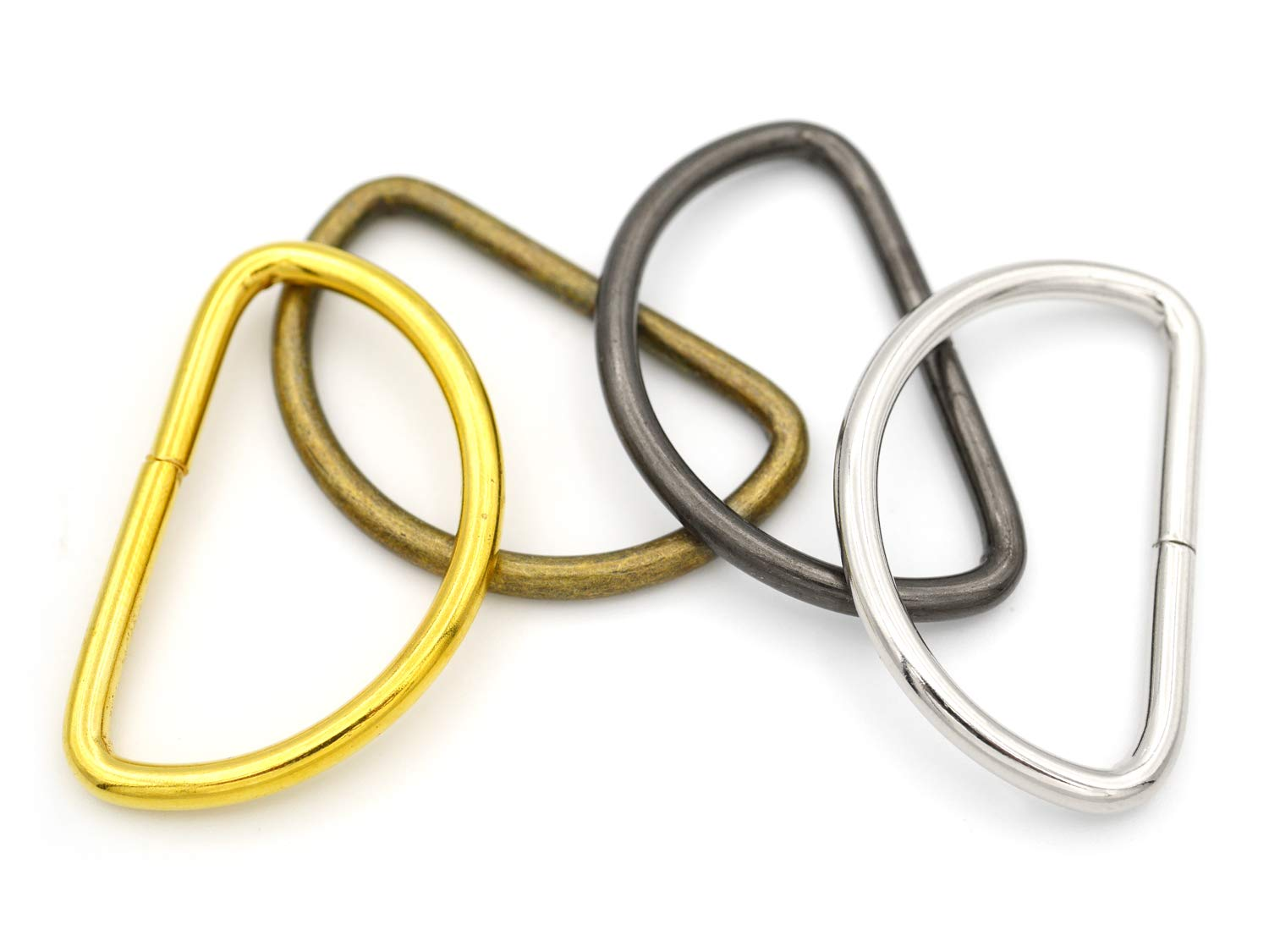 1 1//4 Inches, Silver CRAFTMEmore D-Ring Findings Metal Non Welded D Rings for Belts Bags Landyard Leathercraft Available 4 Colors 1 1//4 /& 1 1//2 Inches Pack of 20