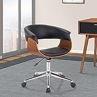 Armen Living LCBVOFCHWABL Bellevue Office Chair, Black