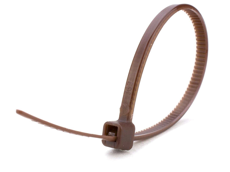 100 X braunen Kabelbinder 100 mm x 2,5 mm Zip Basi Tie Misc.