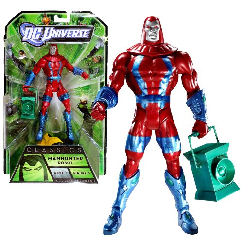 Mattel Year 2010 DC Universe Green Lantern Wave 1 Classics Series 6-1/2 Inch Tall Action Figure #6 - MANHUNTER ROBOT with Green Lantern Plus ARKILLO's Upper Torso (T7852) by DC Comics