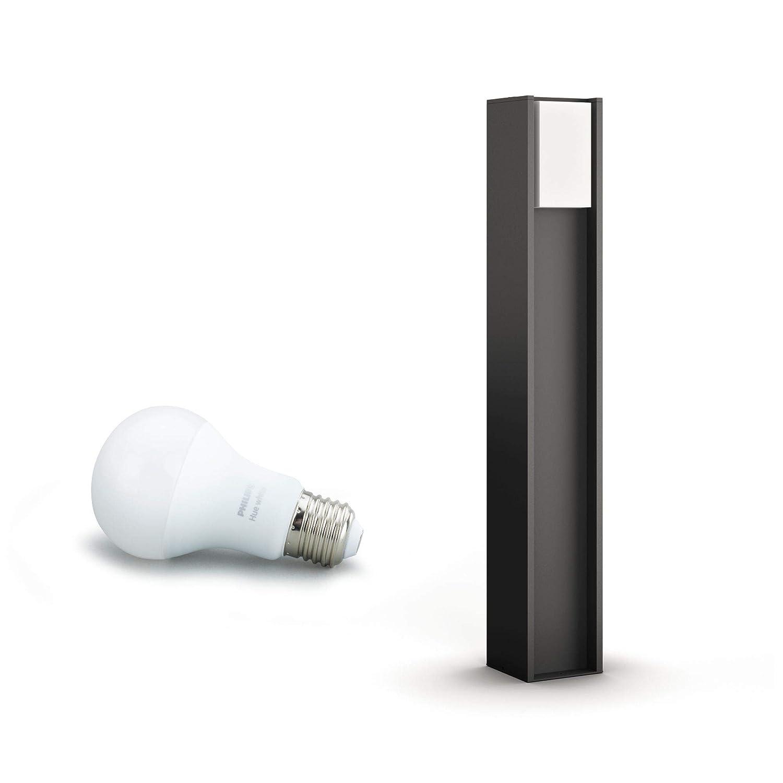 Philips Hue Turaco - Poste LED para exterior, color negro antracita, Iluminación inteligente, compatible con Amazon Alexa, Apple HomeKit y Google ...