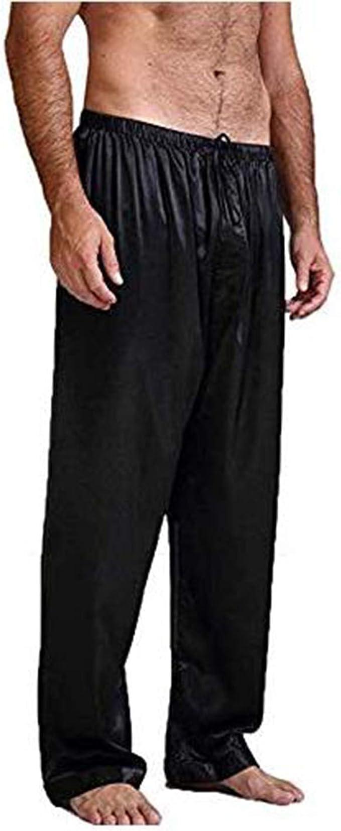 Pantalón bajo de pijama para hombre, talla grande, elástico ...