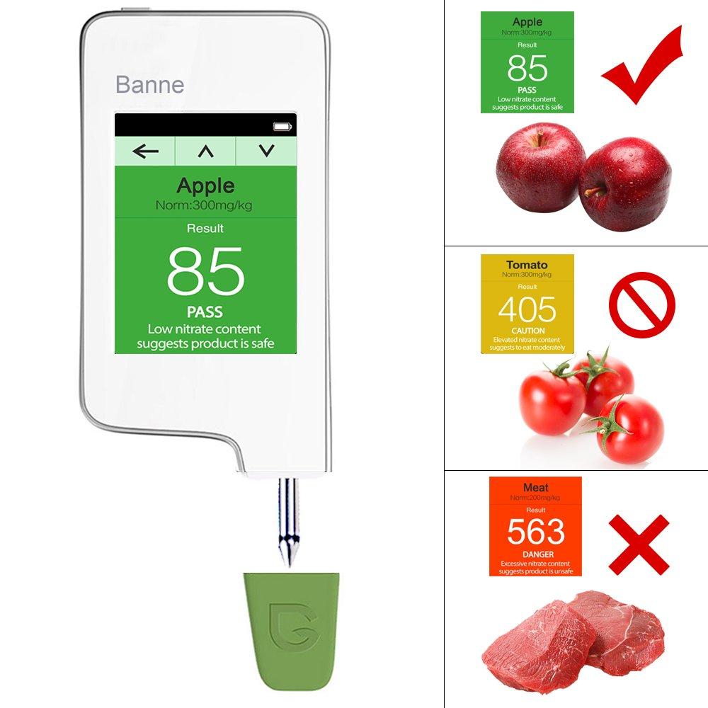 Food Nitrate Detector,Banne Fruit,Vegetable,Meat Nitrate Tester Food Tester Geiger Counter (Version 1)