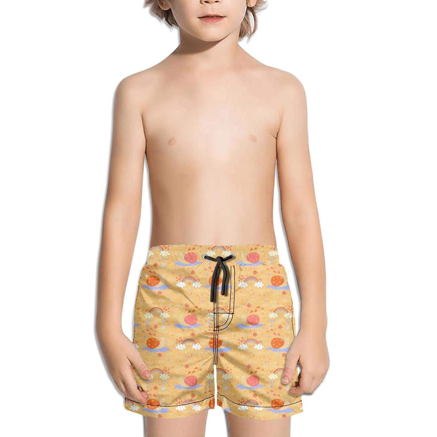 Ina Fers.Quick Dry Swim Trunks Cute Red Snails Butterfly Love Rainbow Shorts Boys