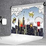 DULUDA 9X6FT Super City Vinyl Customized photography Backdrop Background studio prop WXL58B