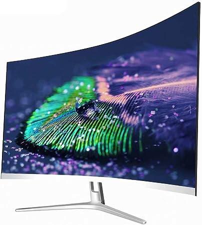 SUOMO Monitor 27 Pulgadas Curvo 75Hz Juego Monitor Full HD 1920 * 1080P LCD del Ordenador