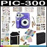 Polaroid PIC300 Instant Camera Gift Bundle, PIF Paper, 9 Unique Colorful Sticker Sets, Photo Album Accessories