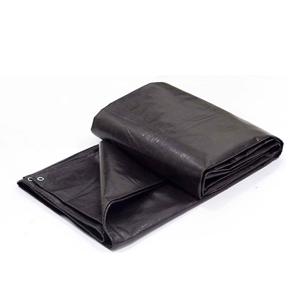 MSNDIAN Starke Schwarze Farbe Streifen Tuch wasserdicht wasserdicht Tuch Sonnenschirm Kunststoff Tuch Plane Kunststoff Blaume Plane Outdoor-Sportartikel
