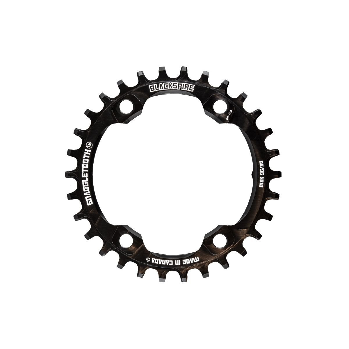 Schwarzspire Snaggletooth narrow wide chainring XT8000 schwarz 96mm 36t 4 bolt