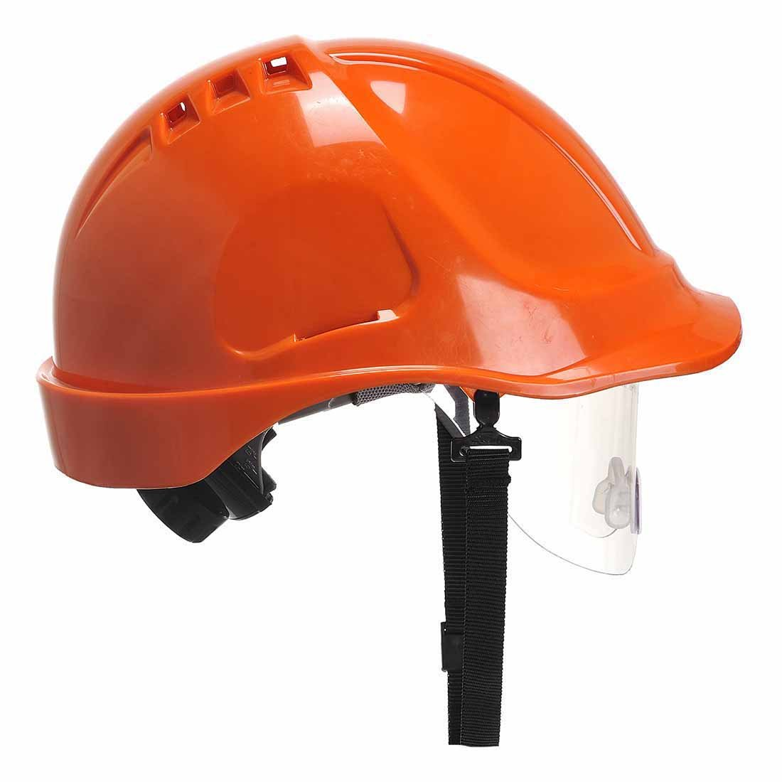 sUw Orange Site Safety Workwear Endurance Visor Helmet Hard Hat Adjustable