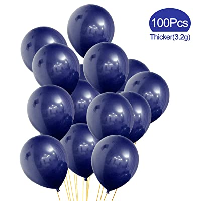 Midnight Blue balloons, 100 Pcs, 12inches Party Latex Balloons Great for Birthday Wedding Baby Shower Party Decoration(Dark Blue): Toys & Games