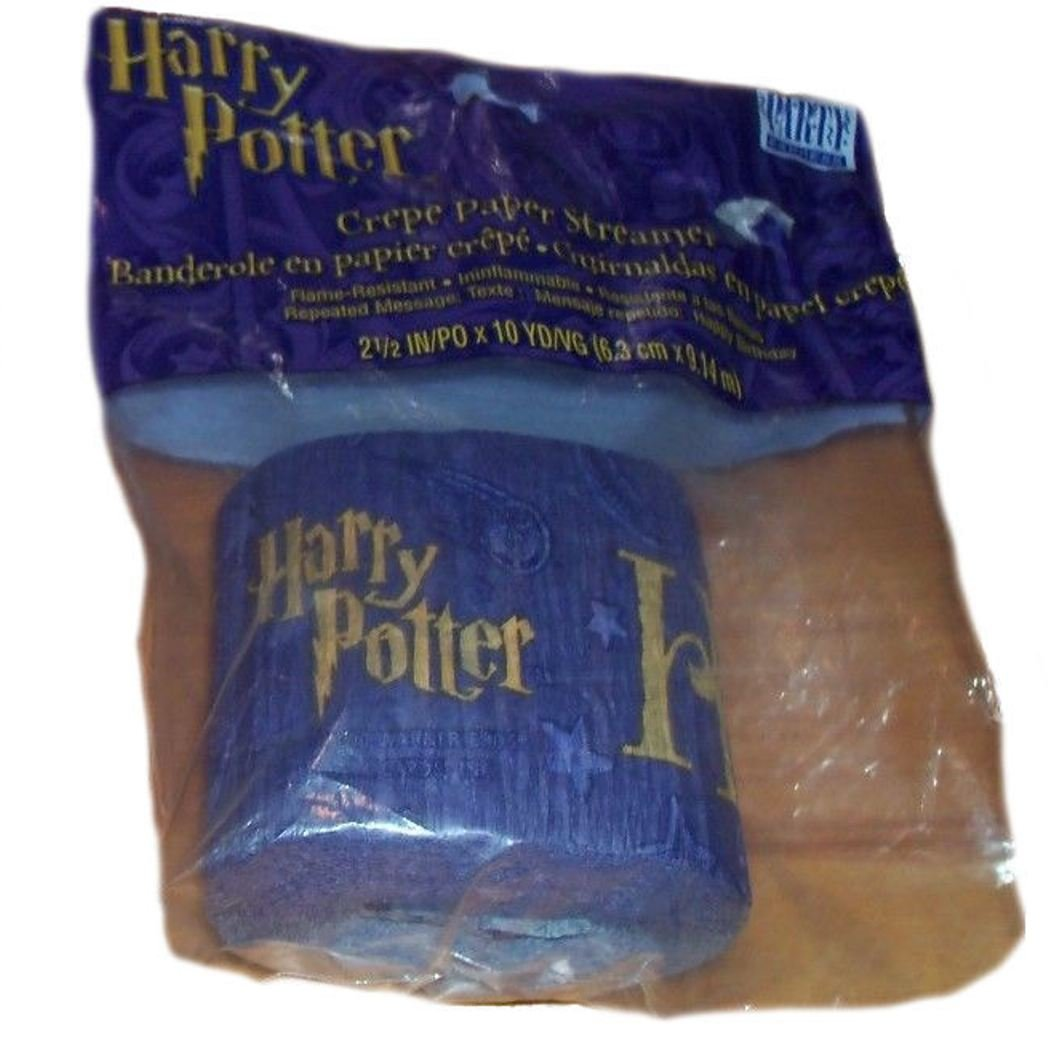 Harry Potter and the Sorcerer's Stone Purple Birthday Party Streamer